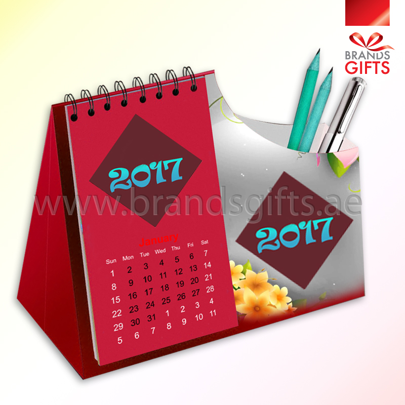 Pen Holder Calendar 2017 Brands Gifts