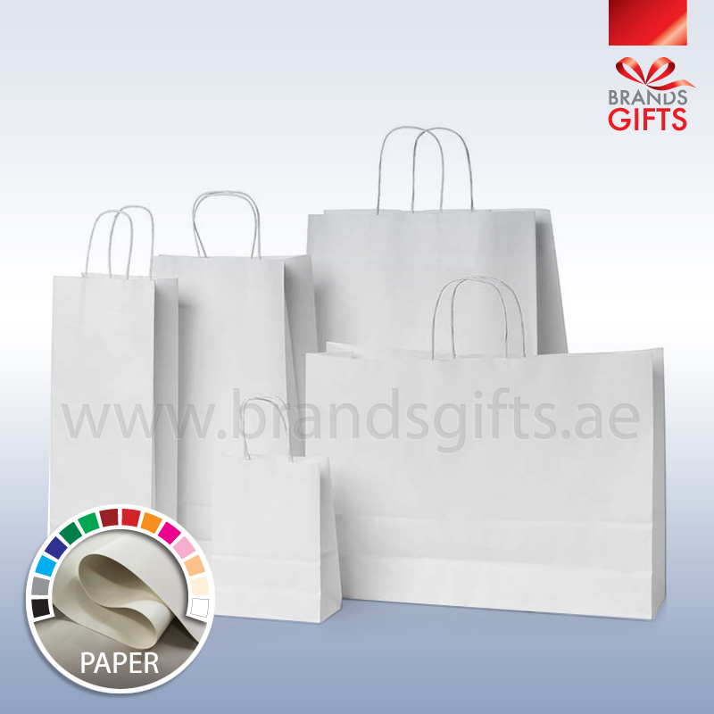 White Craft Paper Bags Brands Gifts